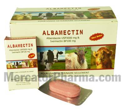 Veterinary Anthelmintic Albendazole + Ivermectin Boluses