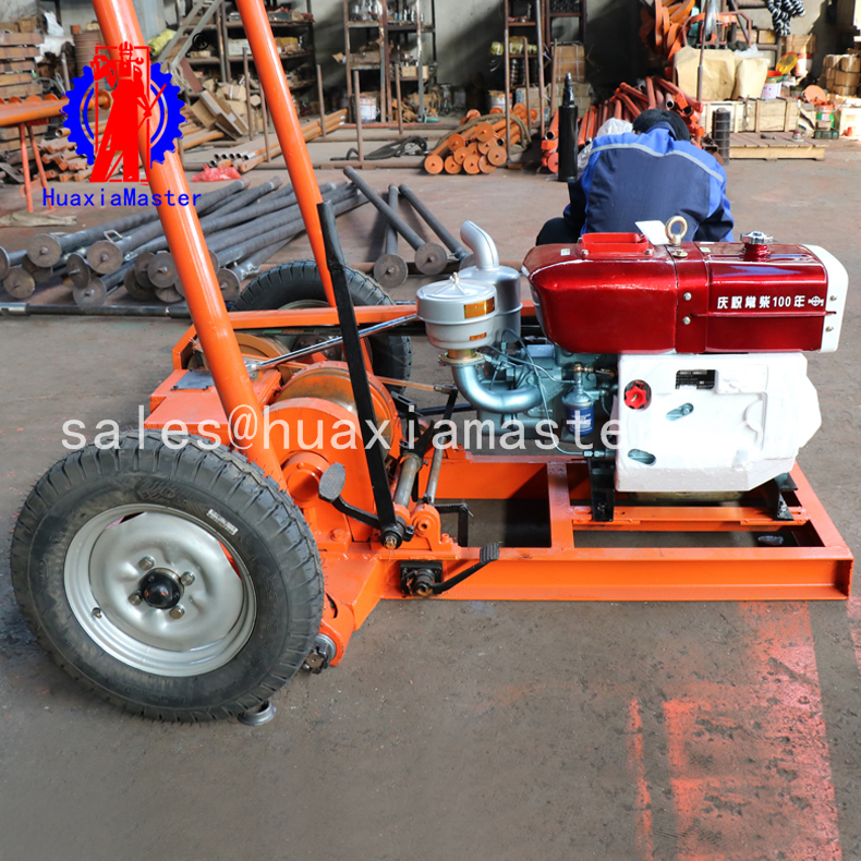 Engineering exploration drilling RigSH30-2A/30 m impact sand soil sampling drilling machine for sale