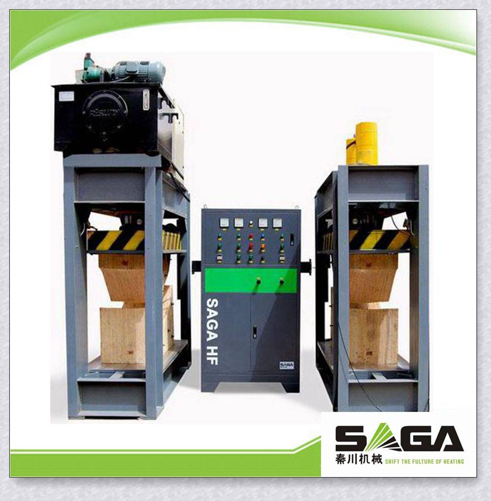 High frequency plywood curving press machine