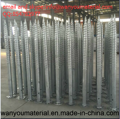 Double Vane Ground Screw And Ground Anchor