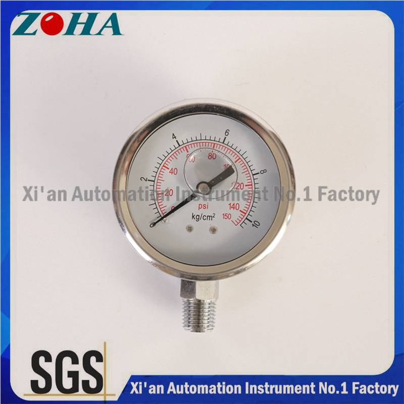 All Ss Pressure Gauges Indicators High Quality Oil Filled