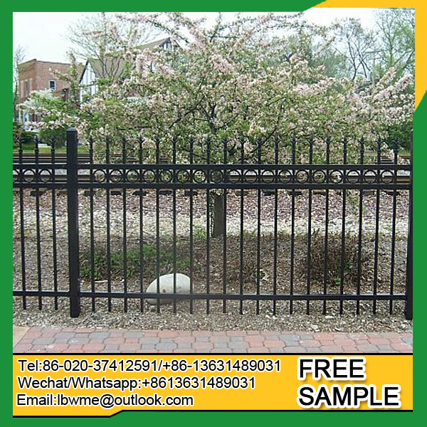 Germany fencing decorative metal fence wrought iron fence