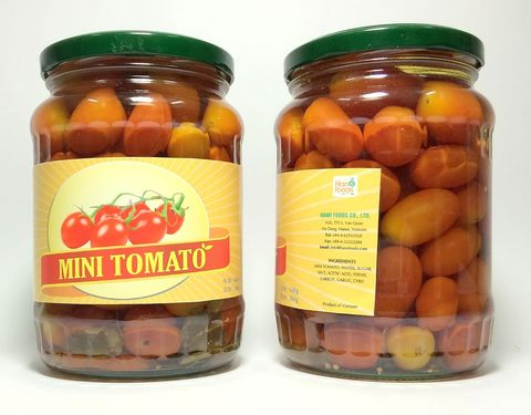 Fresh canned cherry tomato in bulk