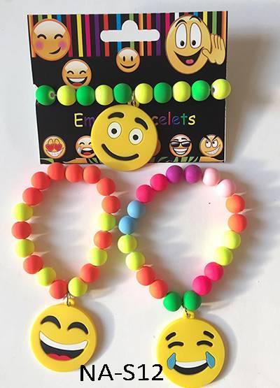 Rainbow emoji bead bracelet,bead bracelet,novelty bracelet