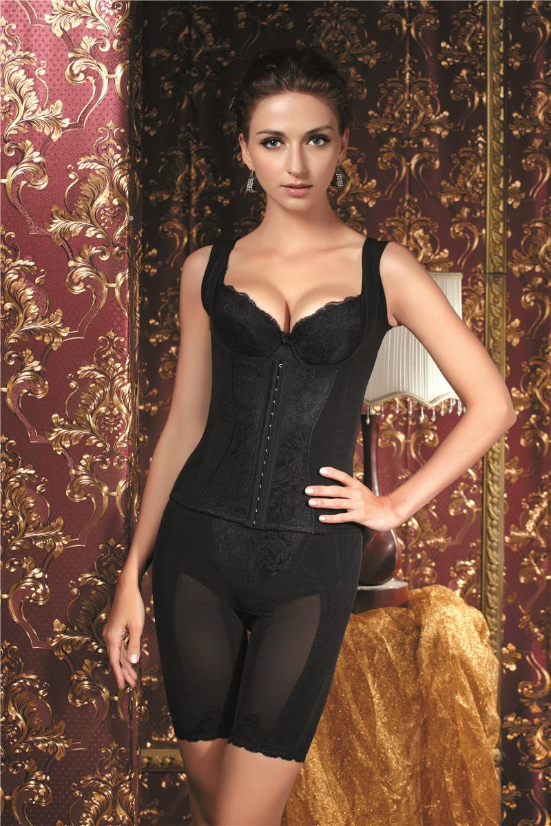 Magnetotherapy sexy fashion ajustable  bra corset and long girdle