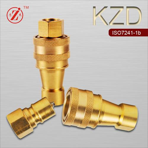 ISO 7241-B brass steel hydraulic quick release coupling
