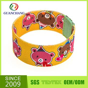 Cheap manufacture charming polyester wristband