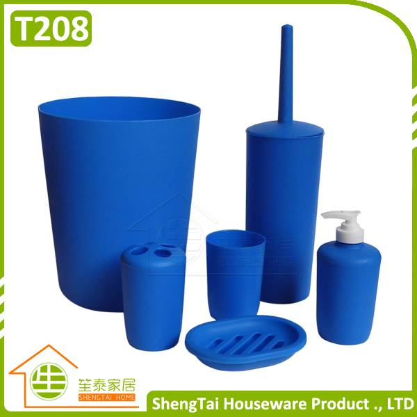 Cheap Price Modern Blue Color 6 Pcs Bathroom Products