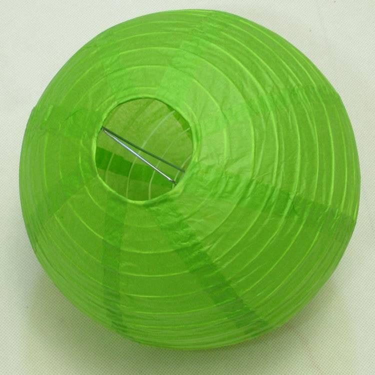 "8"" Egg Irregular Even Rib Lanterns Red Paper Round Ball"