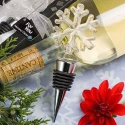Murano Glass Collection Snowflake Design Bottle Stopper Favors