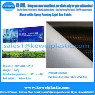 Black-white PVC Flex Banner