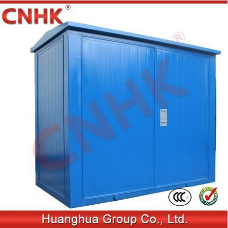 prefabricated(American )transformer substation(steel plate, blue color)