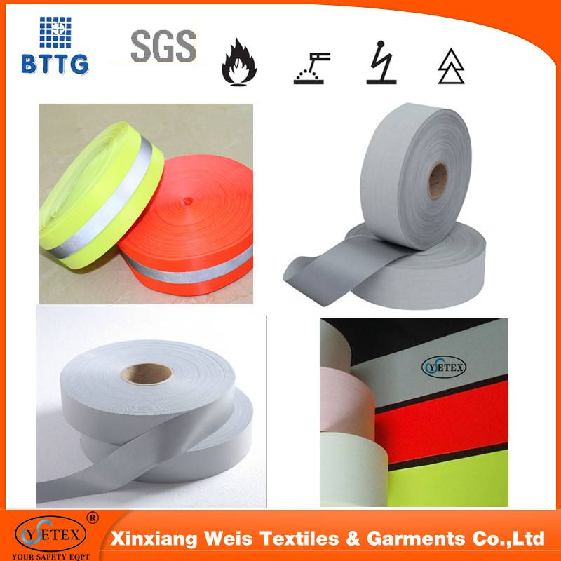 ysetex EN20471 top quality anti fire refletive tape in China