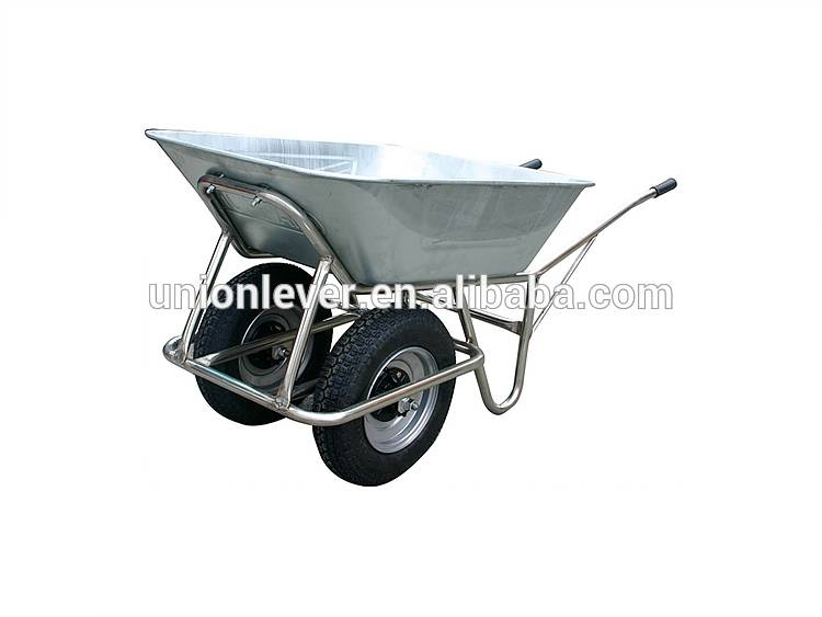 Galvanized tray wheel barrow WB 9060 with 160kg capacity
