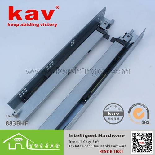 Soft Close and Push Open Concealed Drawer Slide