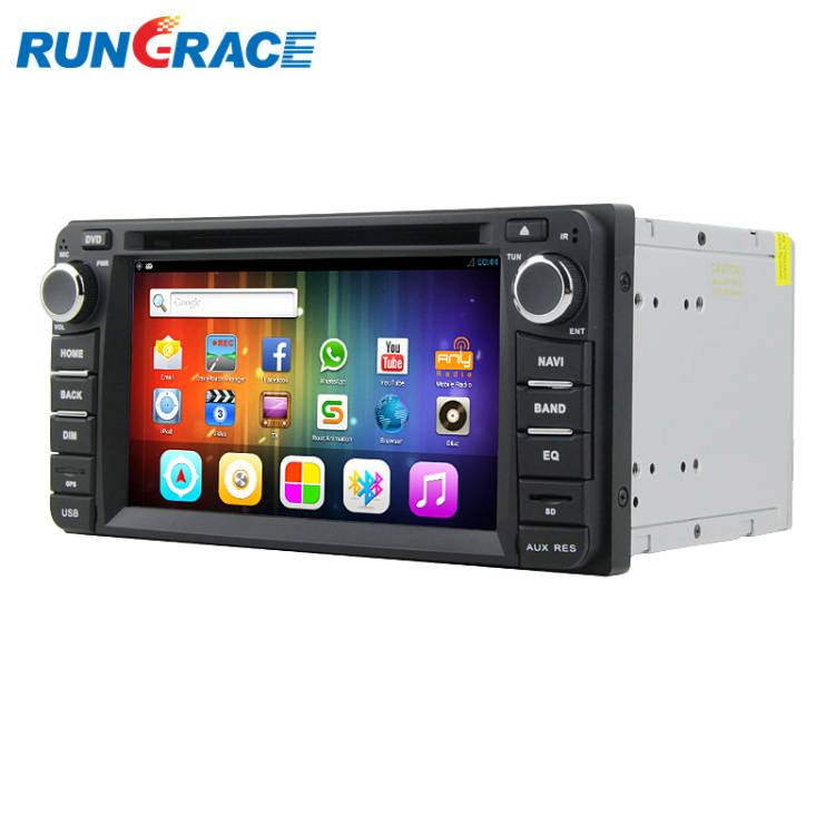 In-Dash 2-Din Universal car dvd player with navigation for Toyota