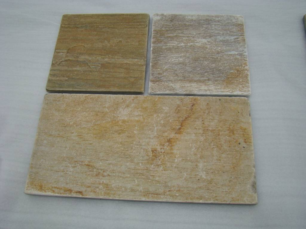 Tumbled Yellow quartzite stone tile  ZF014T