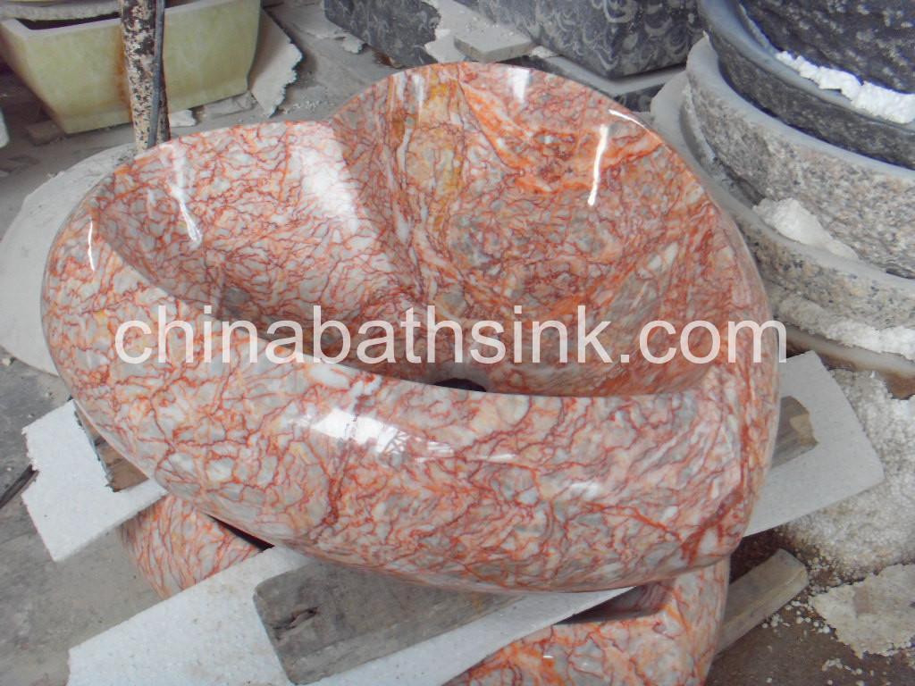 Red Marle Hart Shape Basins
