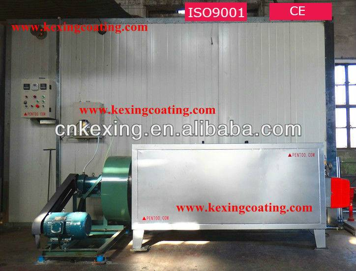 gas curing oven for powder coating
