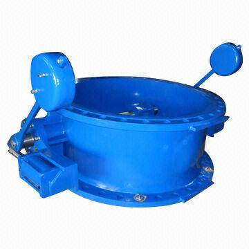 JR-CK-17 Butterfly type check valve with counter weight and cylinder