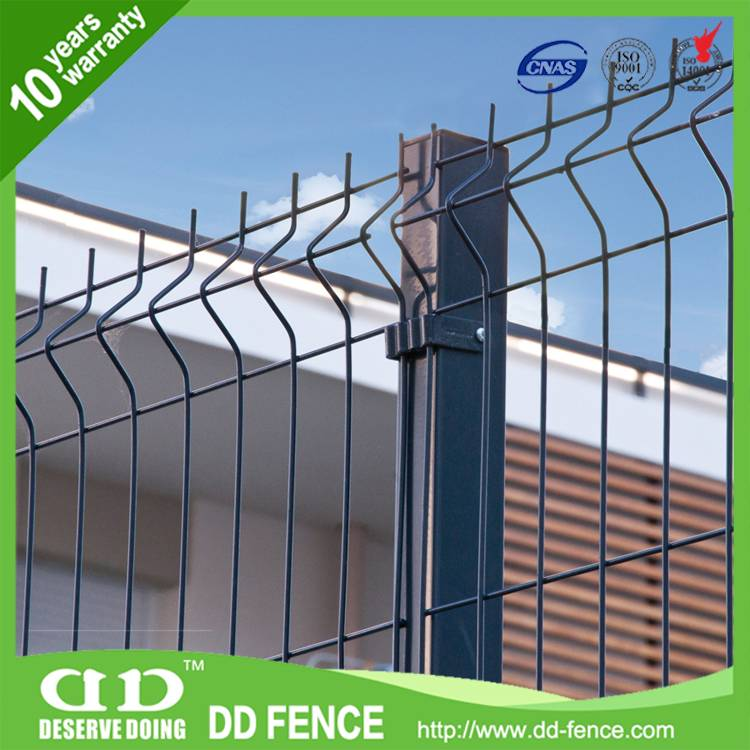 welded pvc coated decorative garden wire fence