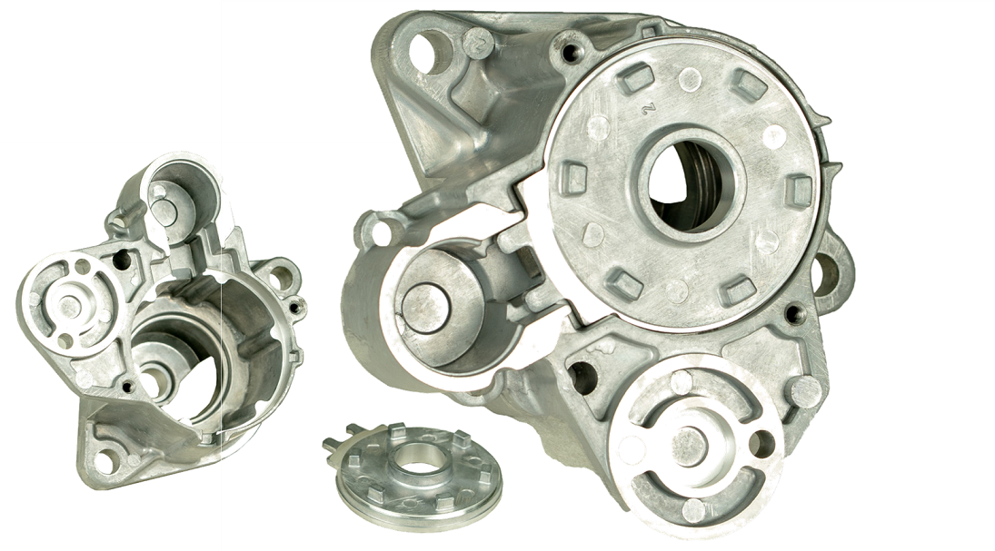 start/stop device gearbox housing