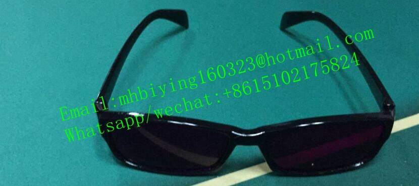 2016 Newest fashion perspective glasses for poker cheating device/spy playing marked cards/uv contac