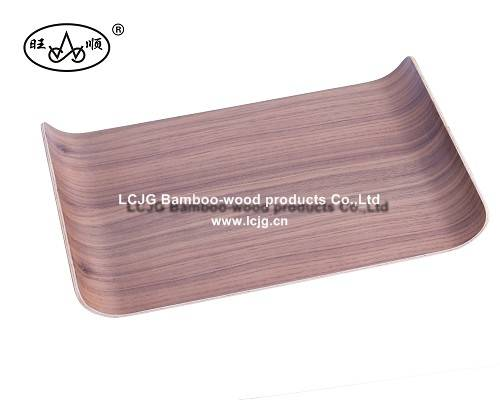 Wooden Tray with Holder for Hotel Supplies