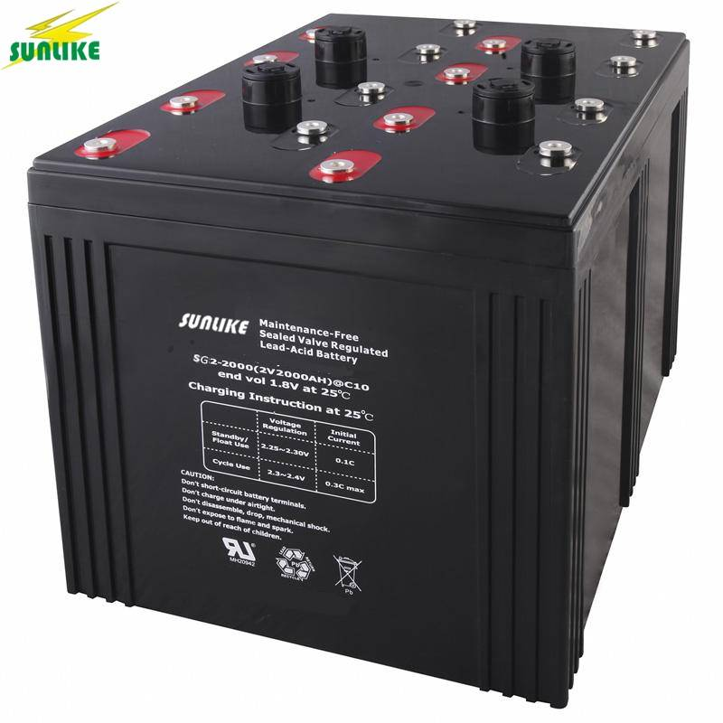Deep Cycle Lead Acid Battery for EPS Power System (2V3000ah)
