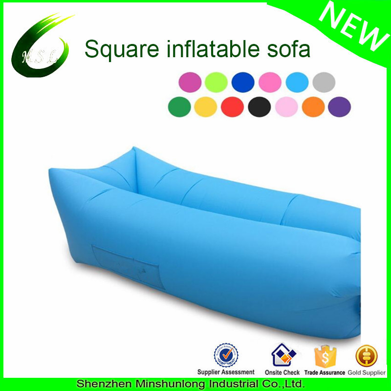 Factory wholesale cheap price and high quality inflatable air sofa lay back bag nylon air couch