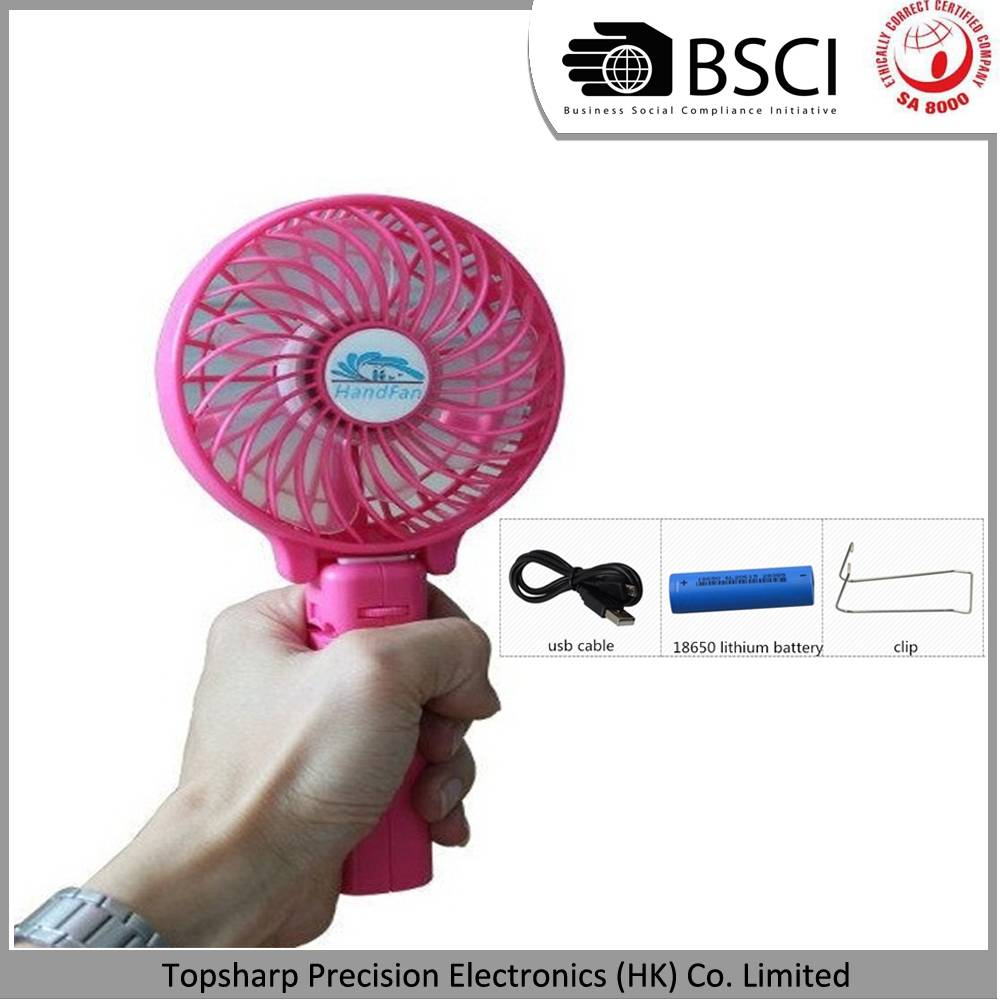 Handfan usb mini battery operated rechargeable fan