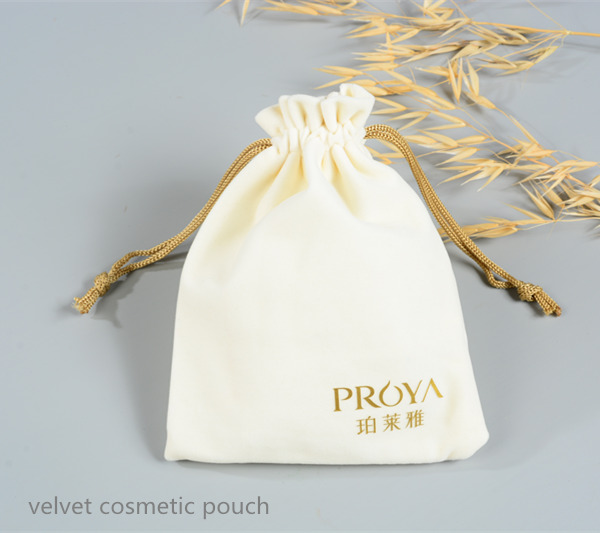 velvet drawstring bag with printing