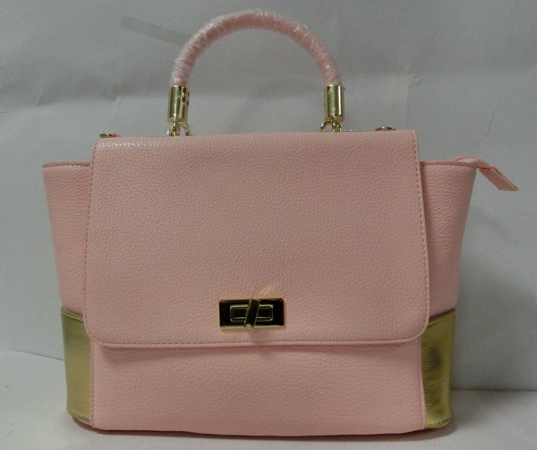 Pink cute handbag PU leather bag