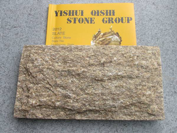 Tiger Skin Yellow Mushroom Granite Stone