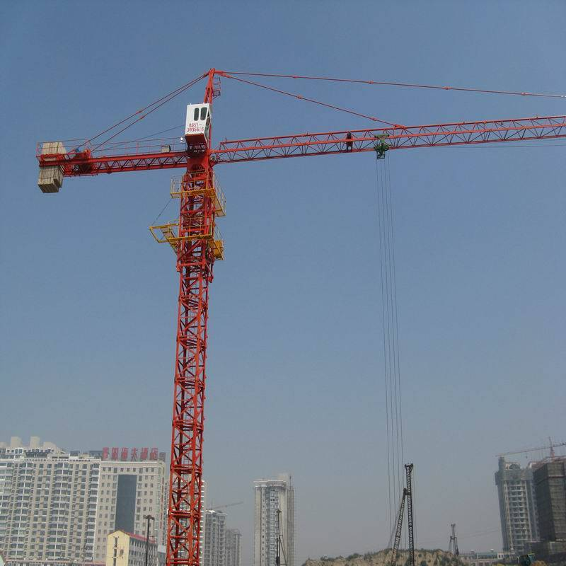 QTZ50(5008)building construction tower crane,red/yellow/blue
