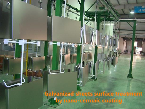 Glavanized sheet surface treatment coating before powder coating