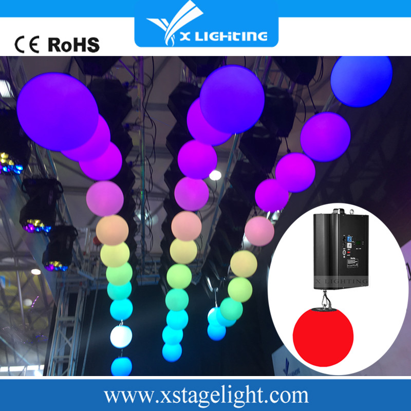 Led stage light kinetic ball lifting dmx winch for event/dj/concert