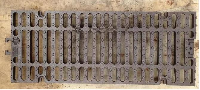 Ductile cast iron channel grating