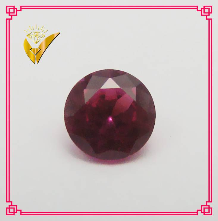 sizes round shaped synthetic ruby