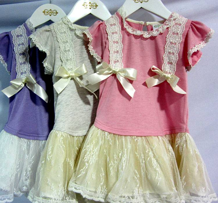 Laciness Appliqued Cute Dresses Toddler Girls Clothing Kids Wear Tutu Dress MY331