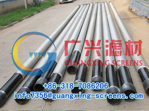 drilling well casing and screen tube