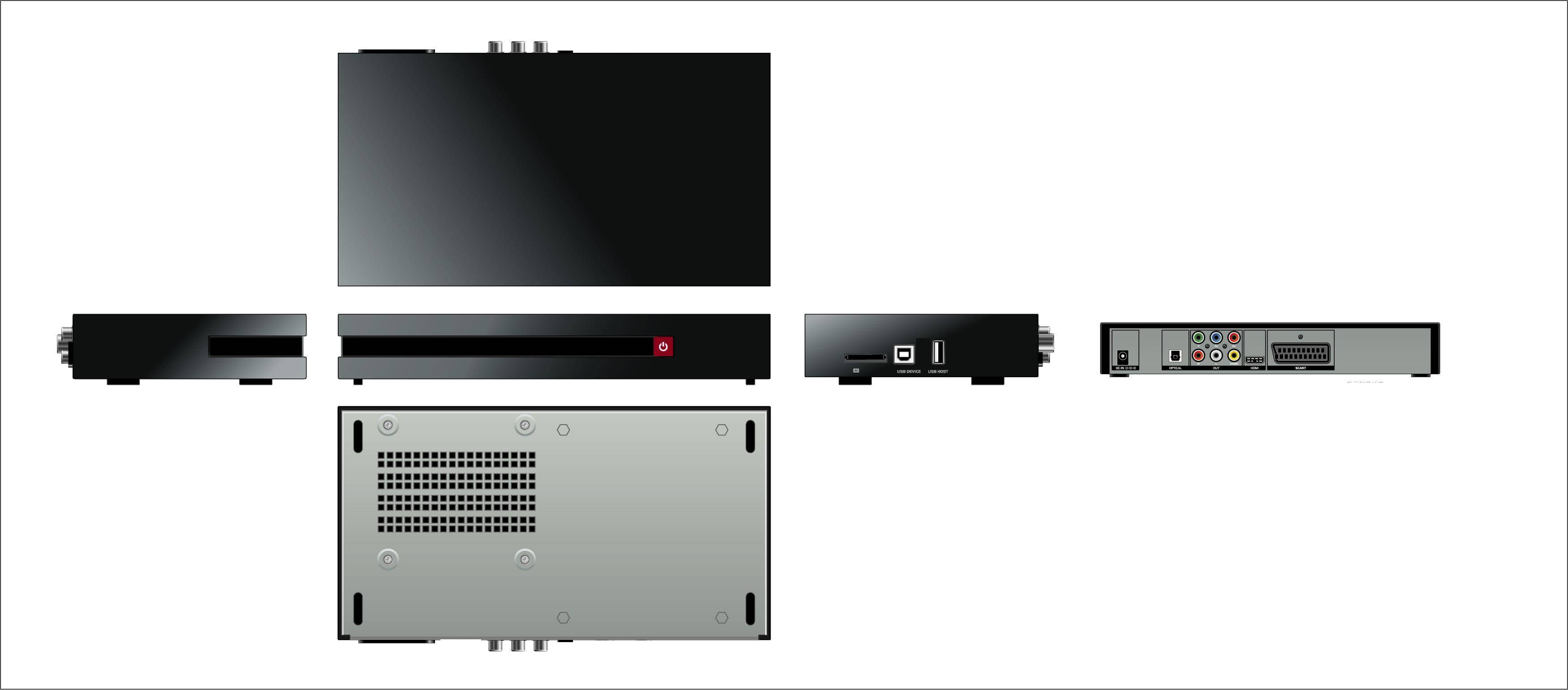 Entry level HDD multimedia player