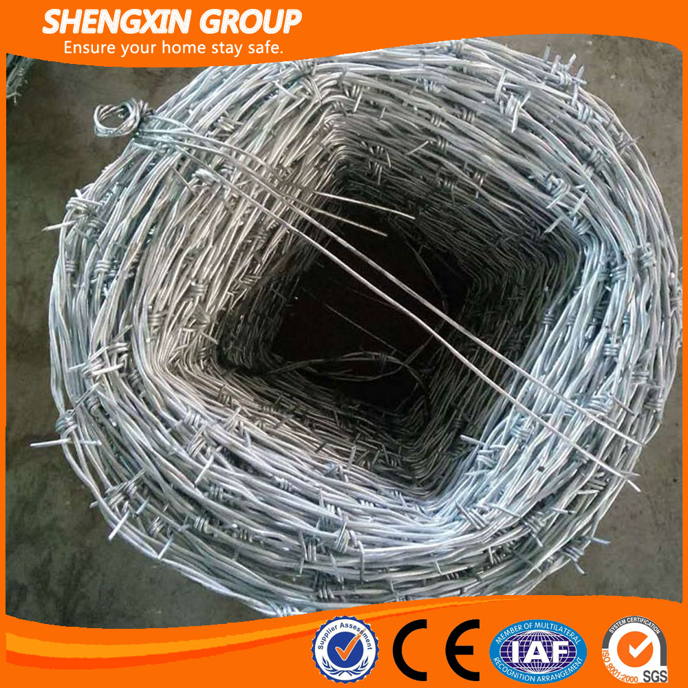 Hot dip galvanized barbed wire fence for security
