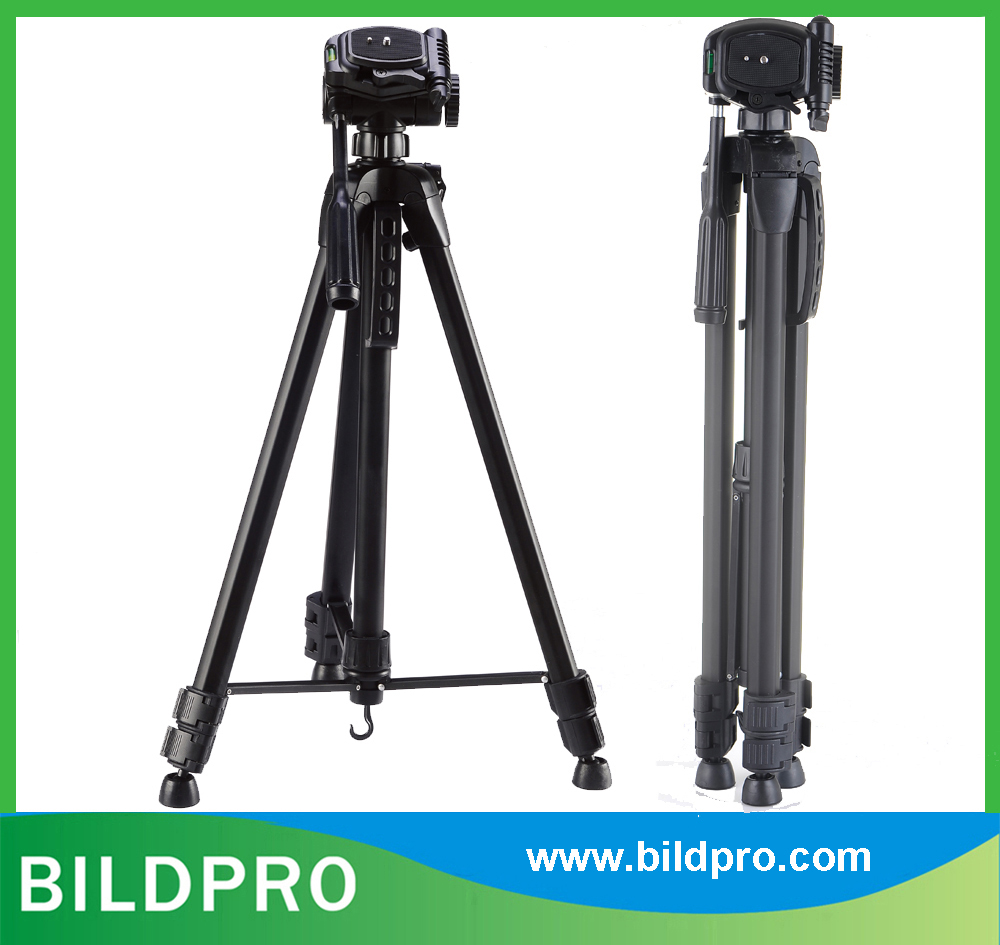 BILDPRO 65inch Aluminum Stand Camcorder Video Tripod Heavy Load Stand