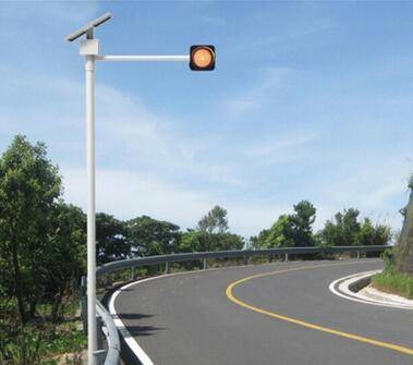 6W Solar yellow flashing lights LED road traffic signal lamp