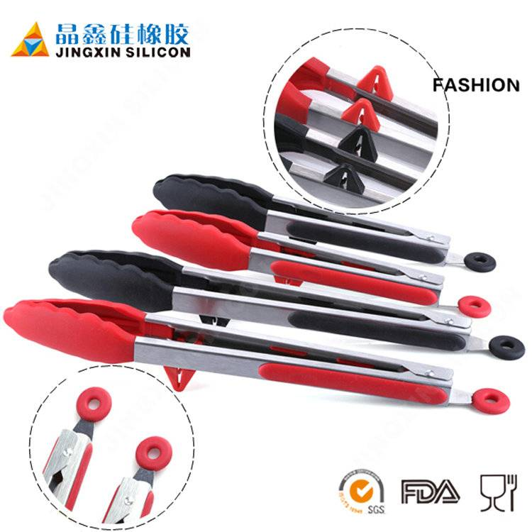 food grade silicone kitchen tongs with OEM color