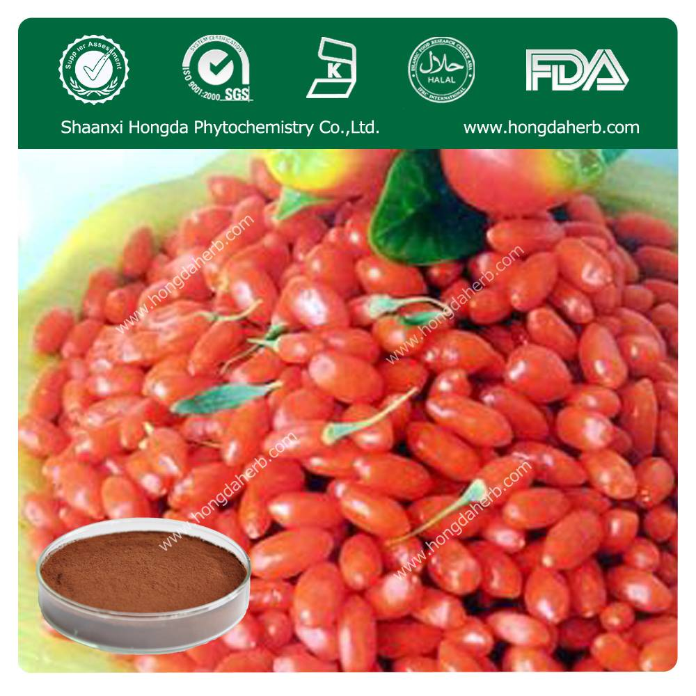Gojiberry Extract 100%pure powder50%polysaccharide