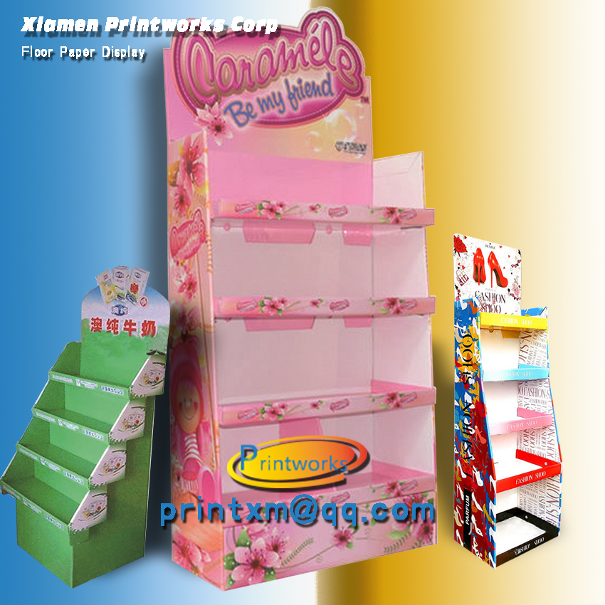 Hot Retail Store or Supermarket Paper Display Stand