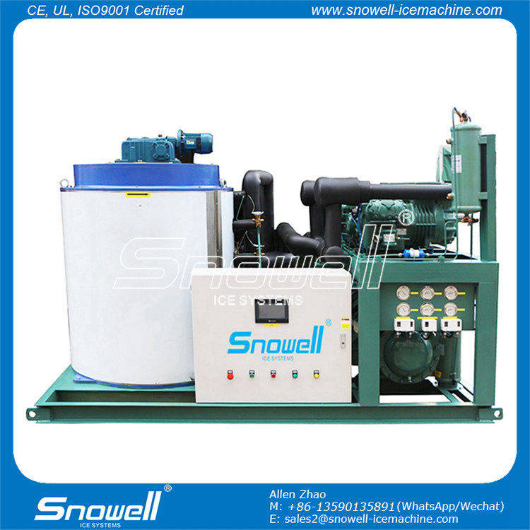 Snowell Industrial Ice Making Machines Flake Ice Maker 10 Ton With Water Cooler SF10T-R4W