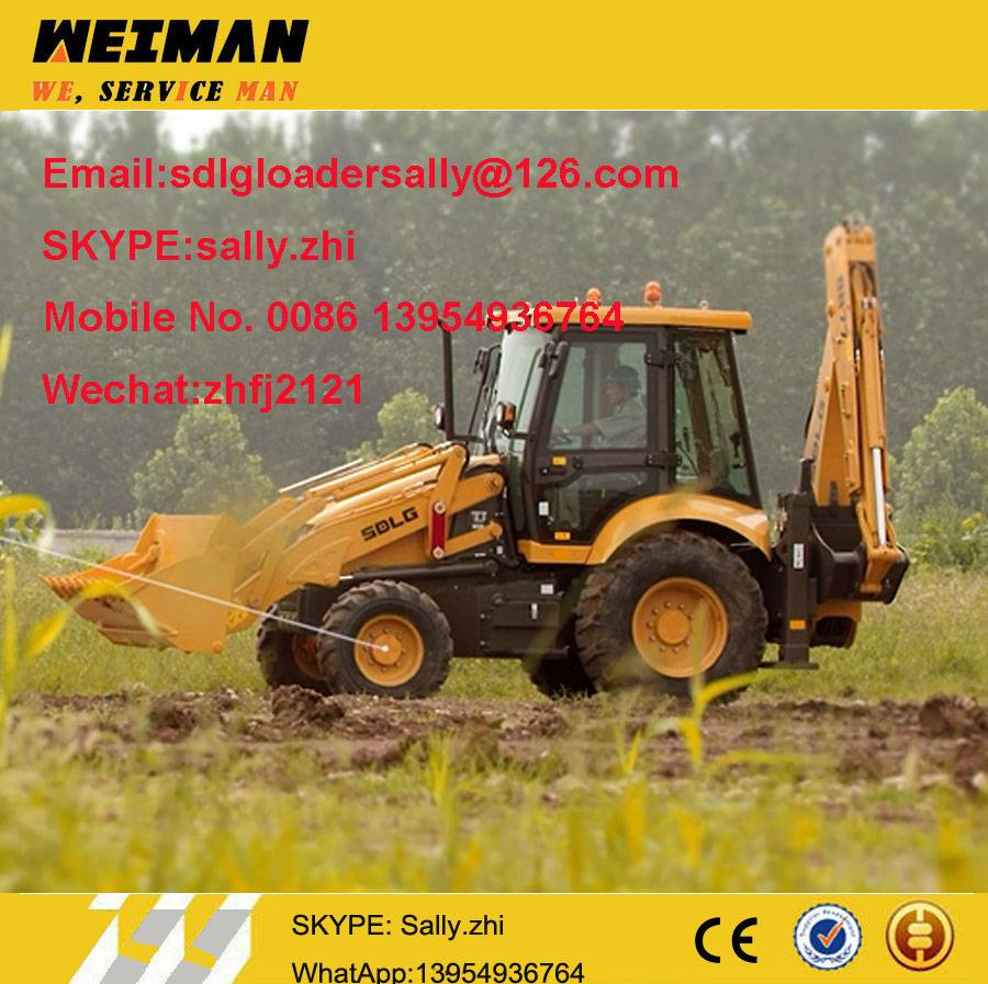 sdlg backhoe loaders B877, loader backhoe, chinese backhoe loader for sale